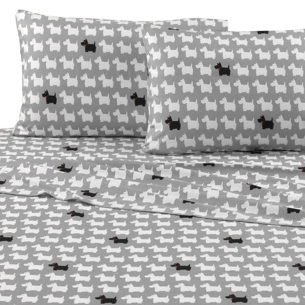 Vellux Scotty Dog Flannel Sheet Set