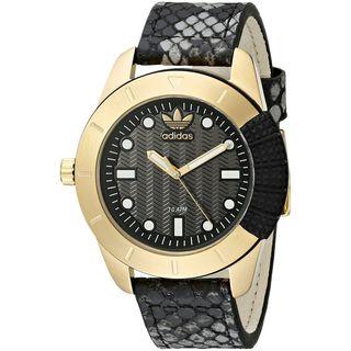 Adidas Women's ADH3052 Black Leather Quartz Watch
