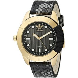 Adidas Women's ADH3052 Black Leather Quartz Watch