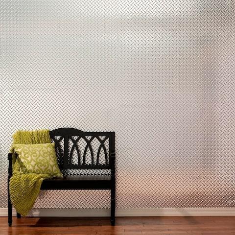 Fasade Diamond Plate Brushed Aluminum 4x8-foot Wall Panel