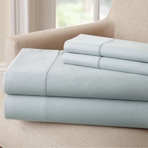 Amraupur Overseas 1500 Thread Count Cotton Rich Solid 4 Piece Bed Sheet Set