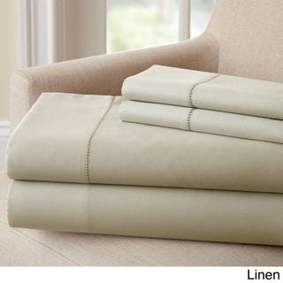 1500 Thread Count Cotton Rich Solid 4 Piece Sheet Set