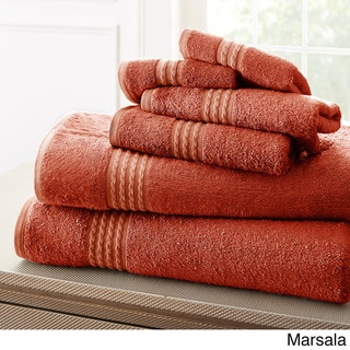 Amraupur Overseas 6-Piece Rayon from Bamboo Towel Set