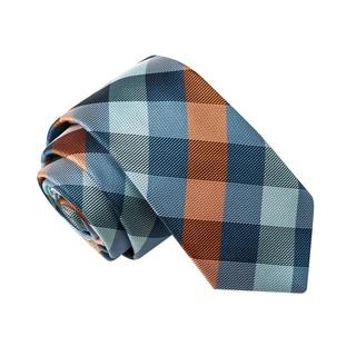 Skinny Tie Madness Men's Phallic Fallacy Blue Plaid Tie