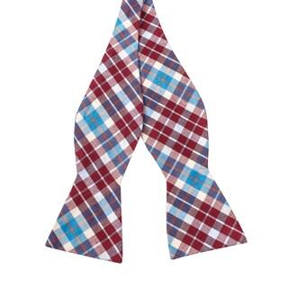 Skinny Tie Madness Men's Fiasco Charlie Multi Color Plaid Bowtie