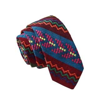 Skinny Tie Madness Men's Tomato Tornado Multi Color Tribal Print Skinny Tie