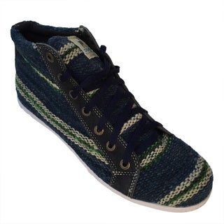 Handmade Andiz Women's Size-15 Handmade Multi-colored High-top Wool Shoes (Ecuador)