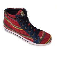 Handmade Andiz Women's Size-12 Handmade Multi-colored High-top Wool Shoes (Ecuador)