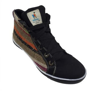 Andiz Women's Size-6 Handmade Multi-colored High-top Wool Shoes (Ecuador)|https://ak1.ostkcdn.com/images/products/10652999/P17719739.jpg?impolicy=medium
