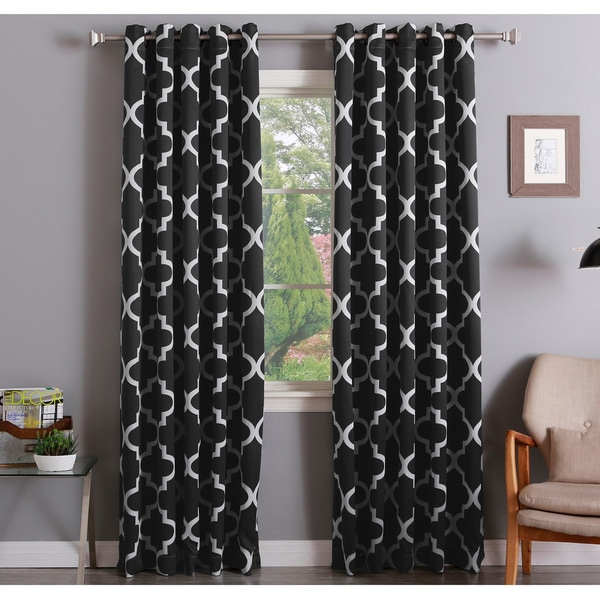Aurora Home Moroccan Tile 108 Inch Room Darkening Curtain Panel Pair - 52 X 108 - 52 X 108. Opens flyout.