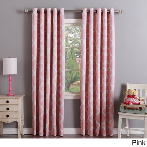 Aurora Home Moroccan Tile 108 Inch Room Darkening Curtain Panel Pair - 52 X 108 - 52 X 108