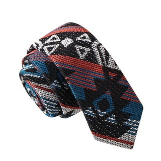 Skinny Tie Madness Men's Hide Your Kids Multi Color Tribal Print Skinny Tie