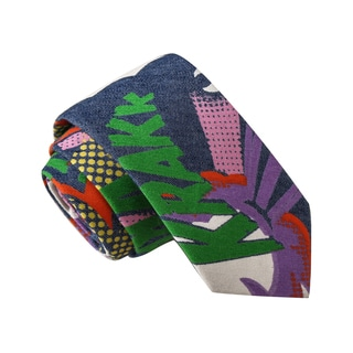 Skinny Tie Madness Men's Frankensteinlager Multi Color Novelty Print Skinny Tie