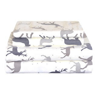 Link to Pointehaven Heavy Weight Deep Pocket Flannel Bed Sheet Set - Autumn Deer Similar Items in Bed Sheets & Pillowcases