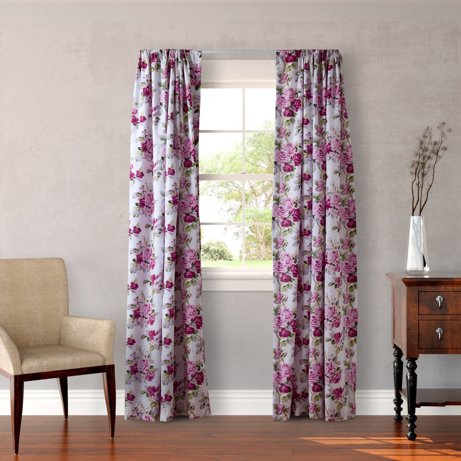 Laura Ashley Lidia 4-piece Lined Curtain Panel Set (Windo...