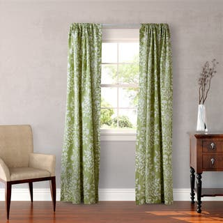 Laura Ashley Rowland 4-piece Sage Curtain Panel Set|https://ak1.ostkcdn.com/images/products/10653069/P17719830.jpg?impolicy=medium