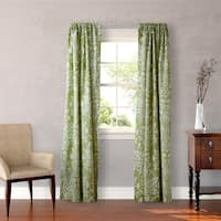 Laura Ashley Rowland 4-piece Sage Curtain Panel Set - 54 x 84