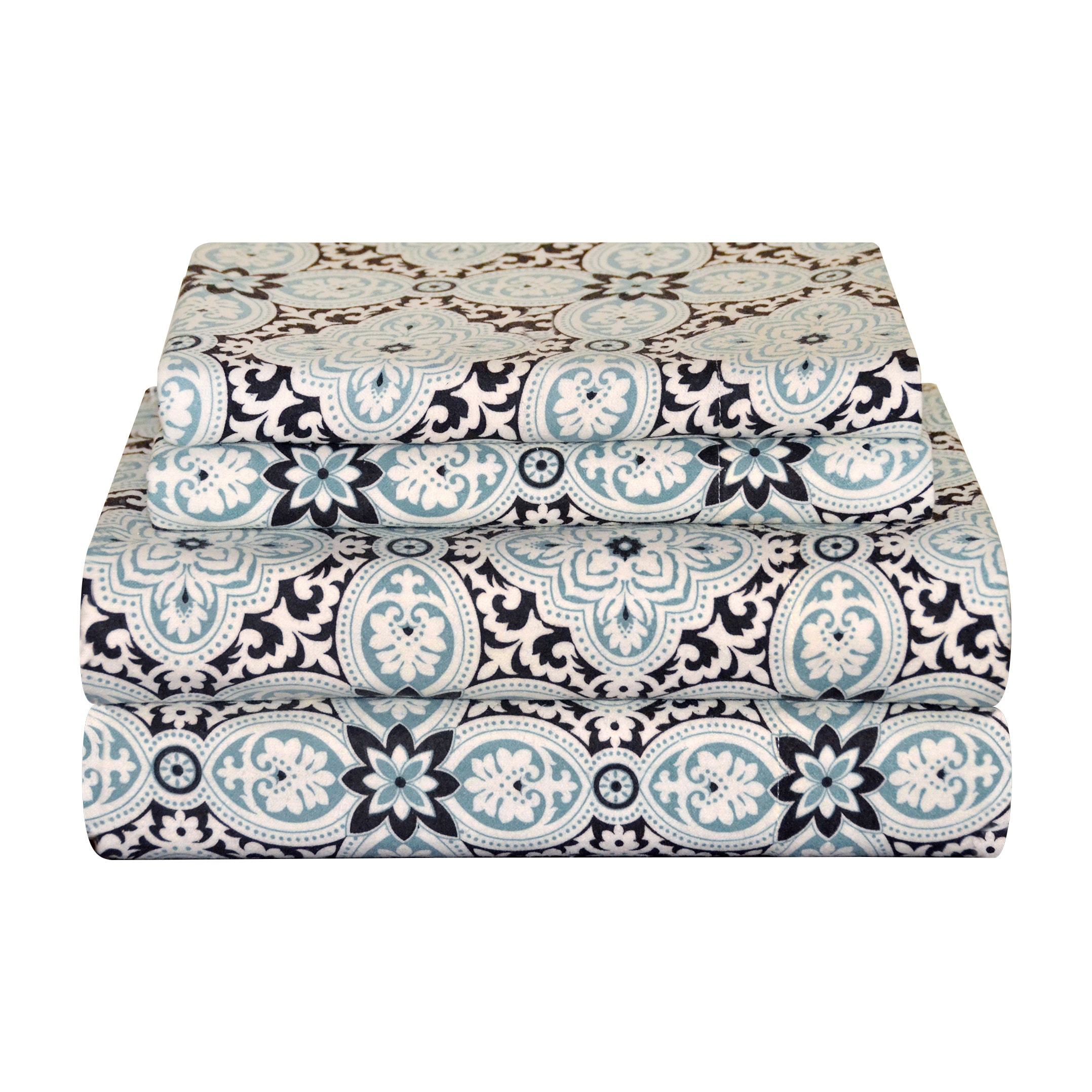 Pointehaven Heavy Weight Flannel Deep Pocket Sheet Set - Ankara