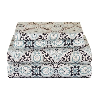 Pointehaven Heavy Weight Flannel Deep Pocket Sheet Set - Ankara - Thumbnail 0