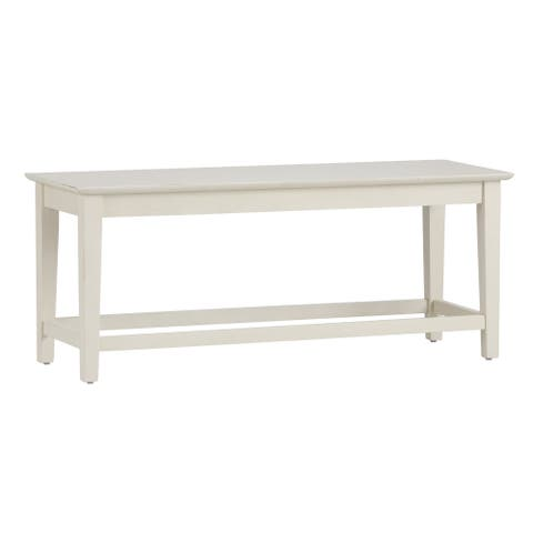 Summerhill Rubbed Linen White Dining Bench