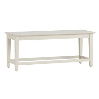 Liberty Summerhill White Rubbed Linen-finished Wood Dining Bench
