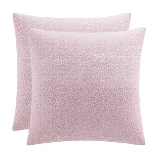 Laura Ashley Lidia Pink Cotton Quilted European Sham Cover (Set of 2)