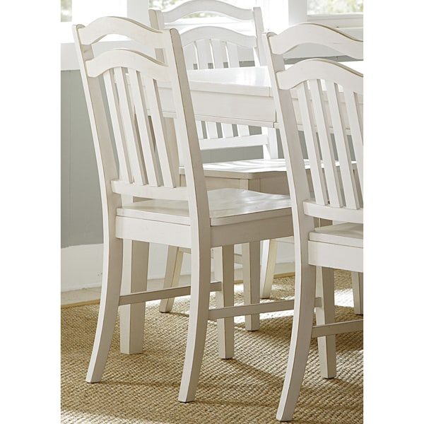 Summerhill Rubbed Linen White Dining Chair