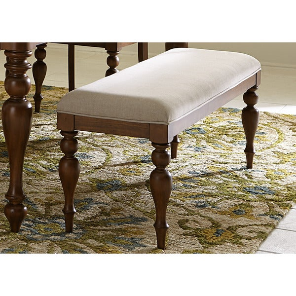 Liberty Summer House Cherry Cottage Upholstered Dining Bench
