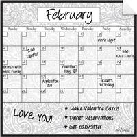 Paisley Dry Erase Monthly Calendar Decal