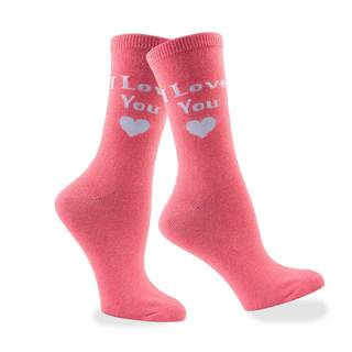 Women's Valentine's Day 'I Love You' Cotton Crew Sock