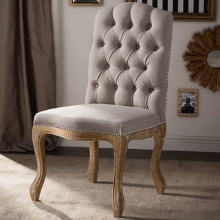 Baxton Studio Hudson Shabby Chic Rustic French Cottage Upholstered Dining Chair