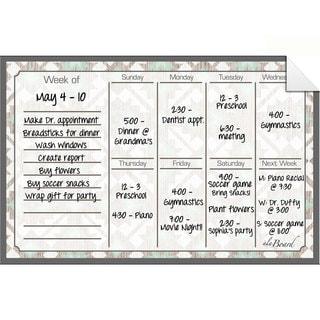 Tribal Dry Erase Weekly Calendar Decal