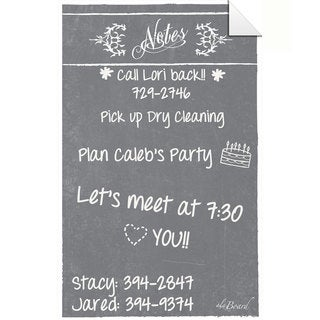 Grey Dry Erase Peel and Stick Message Decal