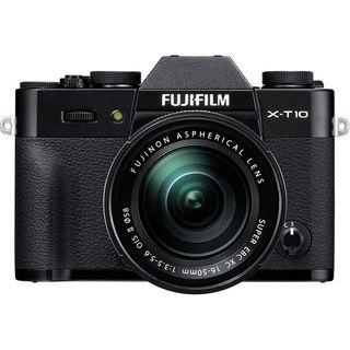 Fujifilm X-T10 Mirrorless Digital Camera with 16-50mm Lens (Black)