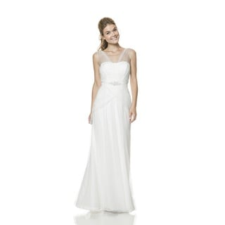 Bari Jay Fashions Women's White Crystal Gown