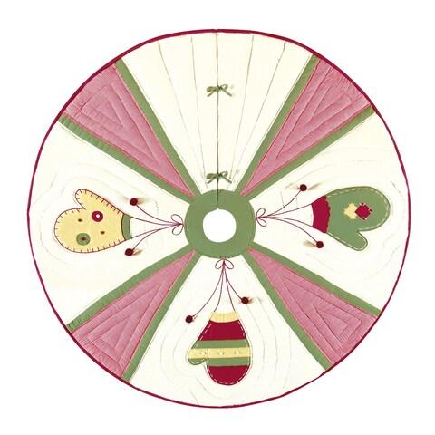 Homespun Mittens Christmas Tree Skirt