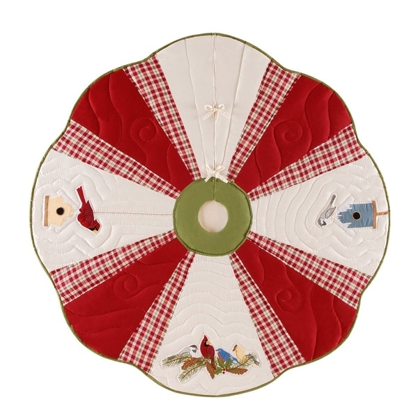 Feathered Friends Christmas Tree skirt