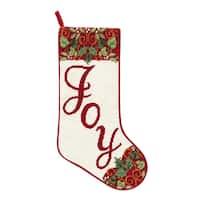 Joy Needlepoint  Stocking - King