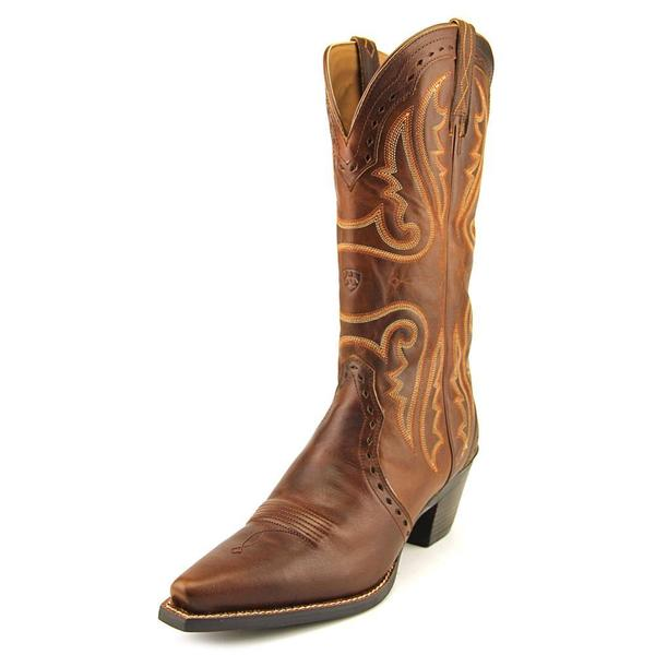 a458d357afd4 Shop Ariat Women s  Heritage Western X Toe  Full-Grain Leather Boots ...