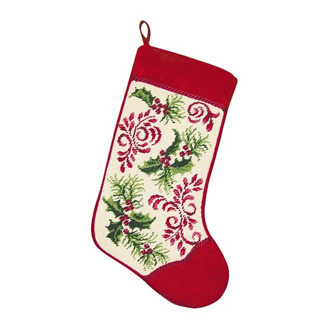 Holiday Royale Needlepoint Stocking - King