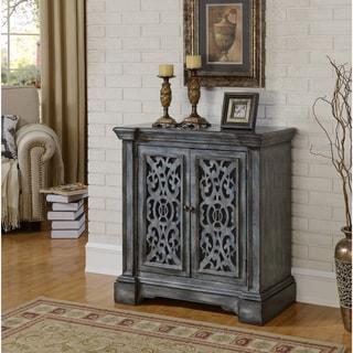 Somette Grey Blue Weathered 2-Door Cabinet