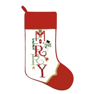Needlepoint Stocking Merry