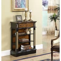 Somette Black 1-Drawer Bookcase