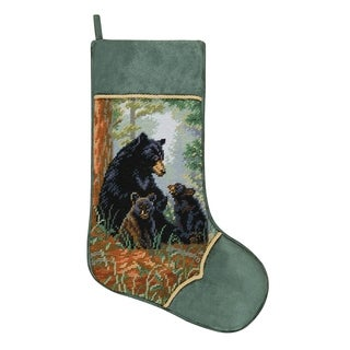 Needlepoint Stocking Bear Family