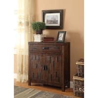 Somette Brown 1-Drawer, 2-Door Cabinet