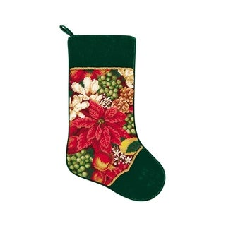 Needlepoint Stocking Crimson Glory