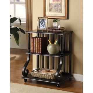 Somette Black 3-Shelf Bookcase