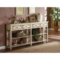 Somette Cream Rub-Through 4-Drawer Console Table