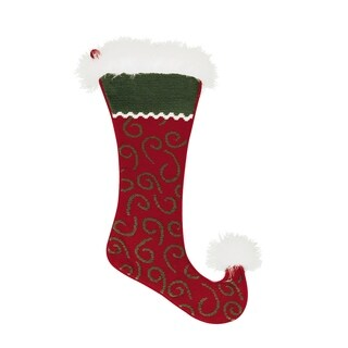 Jester Swirl Needlepoint Stocking - King