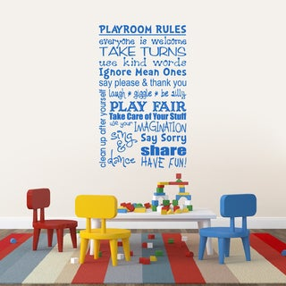 Playroom Rules 22-inch x 36-inch Wall Decal